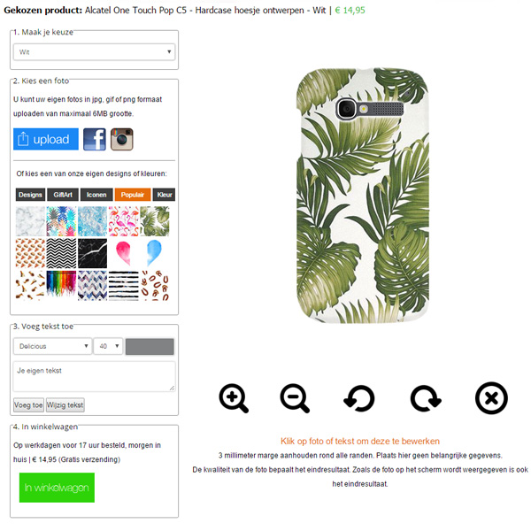 Make your own alcatel one touch pop c5 case