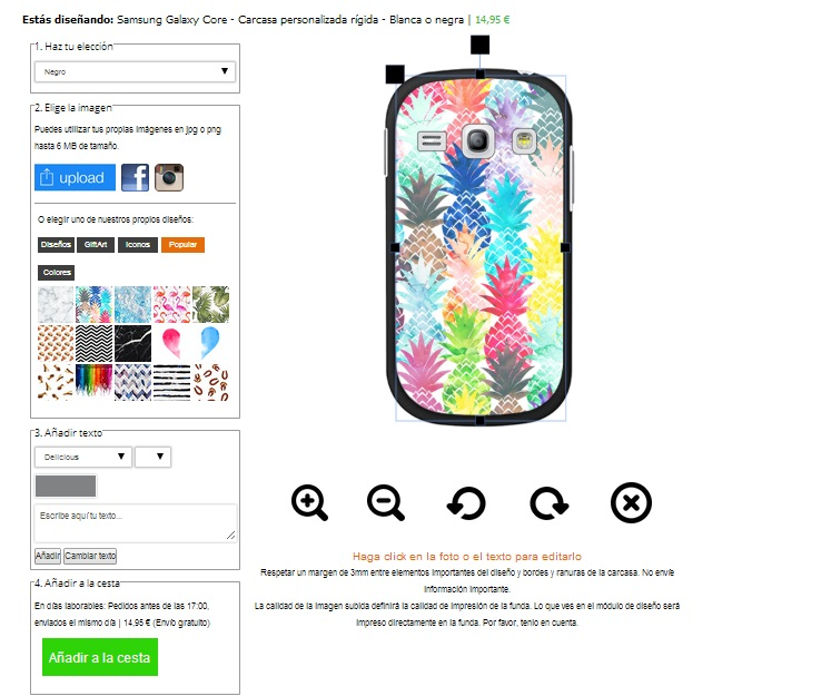 Cover con foto Samsung Galaxy core