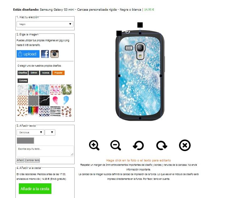 Custodie personalizzate Samsung Galaxy S3 mini