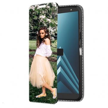 Samsung Galaxy A6 2018 - Coque Portefeuille Personnalisée (Sur L'avant)
