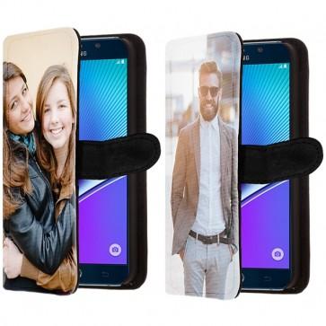 Samsung Galaxy Note 5 - Coque Portefeuille Personnalisée (Sur L'avant)