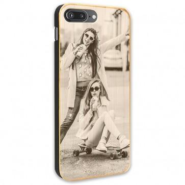 iPhone 7 PLUS & 7S PLUS - Coque Personnalisée en Bois de Bambou