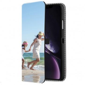 iPhone Xr - Coque Portefeuille Personnalisée (Sur L'avant)