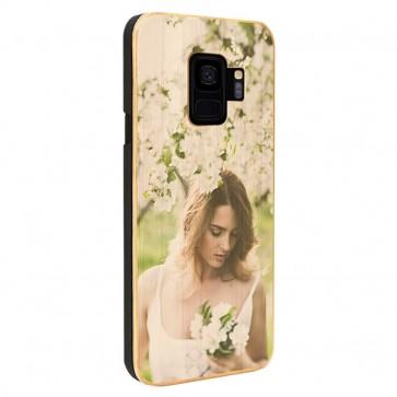 Samsung Galaxy S9 - Coque Personnalisée en Bois de Bambou