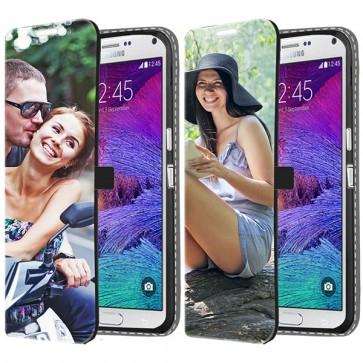 Samsung Galaxy Note 4 - Coque Portefeuille Personnalisée (Sur L'avant)