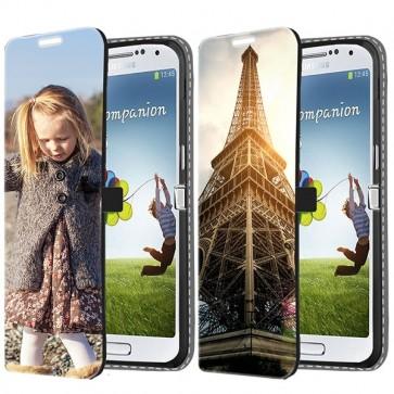 Samsung Galaxy S4 - Coque Portefeuille Personnalisée (Sur L'avant)