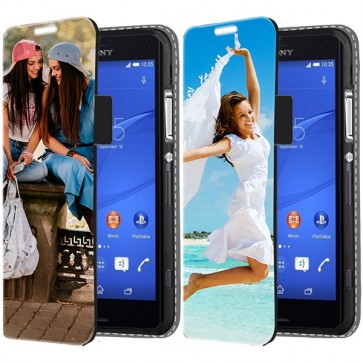 Sony Xperia Z3 Compact - Coque Portefeuille Personnalisée (Sur L'avant)