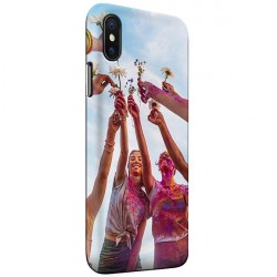 iPhone X - Coque Rigide Personnalisée à Bords Imprimés