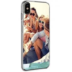 iPhone X - Coque personnalisée en silicone avec photo - Noir, Blanc ou Transparent
