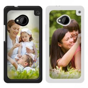 HTC One - Coque personnalisée rigide - Noire ou blanche