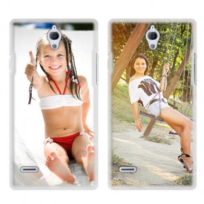Huawei Ascend G700 - Coque personnalisée rigide - Blanche