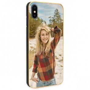 iPhone Xs - Coque Personnalisée en Bois de Bambou