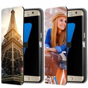 Samsung Galaxy S7 Edge  - Coque Portefeuille Personnalisée (Sur L'avant)
