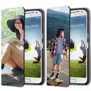 Samsung Galaxy S4 Mini - Coque Portefeuille Personnalisée (Sur L'avant)