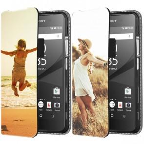 Sony Xperia Z5 Compact - Coque Portefeuille Personnalisée (Sur L'avant)