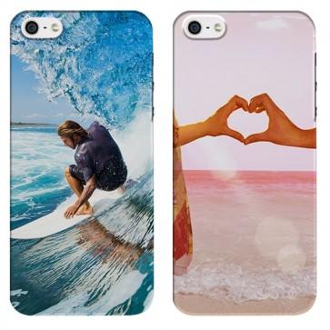 iPhone 5C - Designa ditt egna hårda skal -  Svart, vit eller genomskinlig