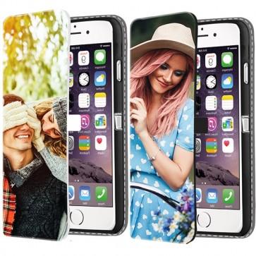 iPhone 7 & 7S - Personligt plånboksfodral - Svart