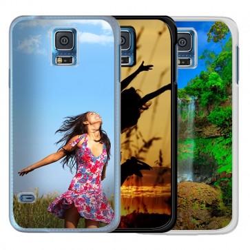 Samsung Galaxy S5 | S5 Neo - Designa hårt skal - Svart, Vit eller Genomskinlig