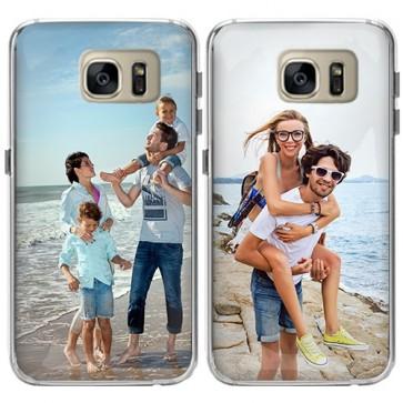 Samsung Galaxy S7 - Designa eget mjukt skal - Svart, vitt eller genomskinligt