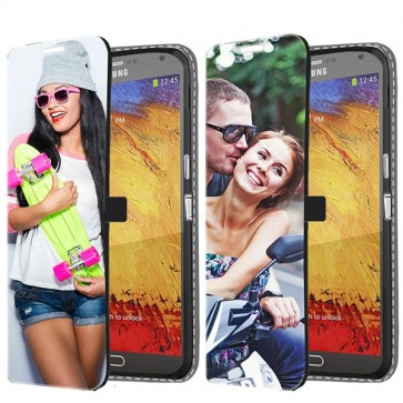 Samsung Galaxy Note 3 - Personalised Wallet Case (Front Printed)