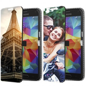 Samsung Galaxy S5 | S5 Neo -  Designa ditt eget plånboksfodral - Svart