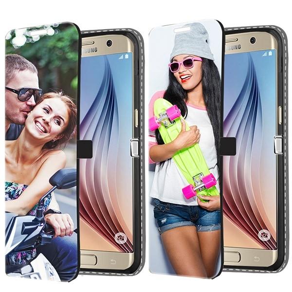 Samsung Galaxy S6 - Designa ditt egna plånboksfodral - Svart 50f01cb2a87ec