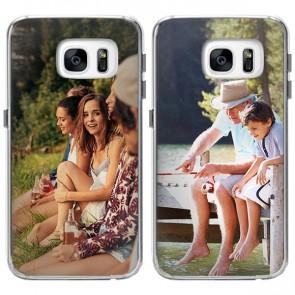 Samsung Galaxy S7 Edge - Designa eget mjukt skal - Svart, vitt eller genomskinligt