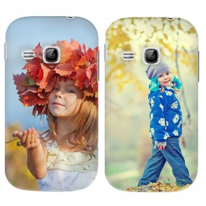 Samsung Galaxy Young 1 - Designa ditt eget hårda skal - Svart