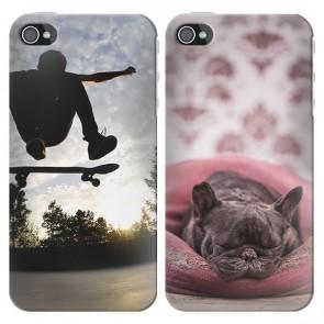 iPhone 4 & 4S - Designa ditt eget silikonskal - Svart eller Vit