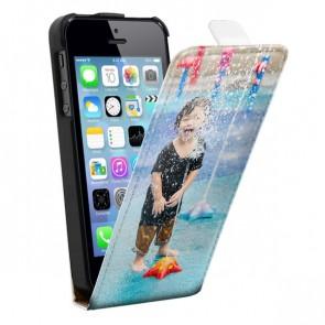iPhone 5(S) och SE -  Designa ditt eget flipskal - Svart eller Vit
