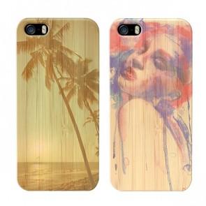 iPhone 5(S) en SE -  Designa ditt egna bambu skal - Hårt trä