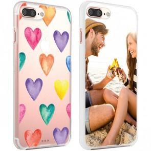 iPhone 7 & 7S PLUS - Designa eget hårt skal - Svart, vitt eller genomskinligt