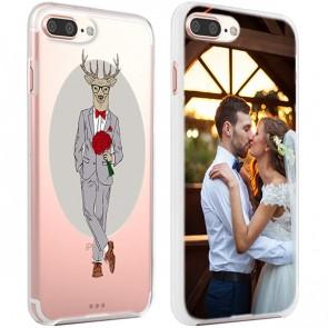 iPhone 7 PLUS & 7S PLUS - Designa eget mjukt skal - Svart, vitt eller genomskinligt
