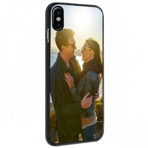 iPhone X - Personlig Hårdt Cover - Sort, Hvidt eller Gennemsigtigt