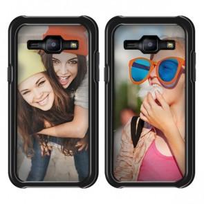 Samsung Galaxy J1 (2015) - Designa deget hårt skal - Svart