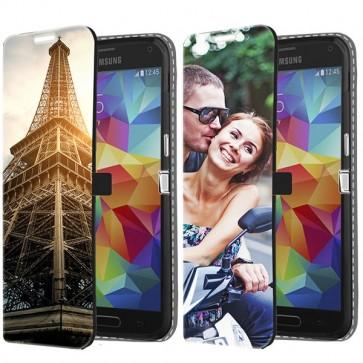 Samsung Galaxy S5 Mini - Cover Personalizzata a Libro (Stampa Frontale)