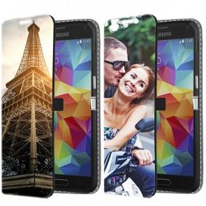 Samsung Galaxy S5 - Cover Personalizzata a Libro (Stampa Frontale)