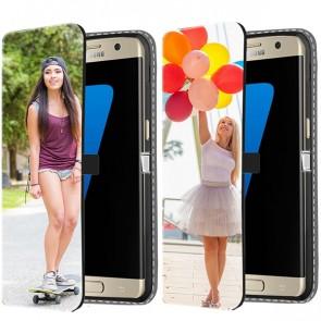 Samsung Galaxy S7 - Cover Personalizzata a Libro (Stampa Frontale)