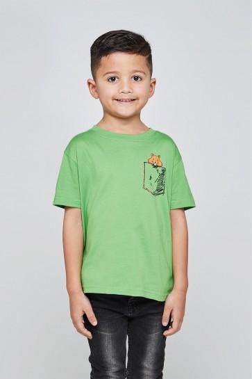 Kinder- Klassisches T-Shirt Rundhalsausschnitt 6-10 Jahre