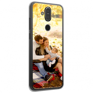 Nokia 8.1 - Hard Case Handyhülle Selbst Gestalten