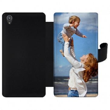 Sony Xperia Z3+ - Wallet Case Selbst Gestalten (Vorne Bedruckt)