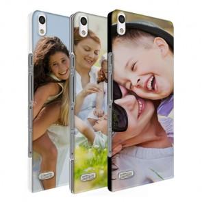 Huawei Ascend P6 - Handyhülle selbst gestalten - Hard Case - Schwarz, weiß, transparent