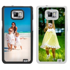 Samsung Galaxy S2 - Handyhülle selbst gestalten - Hard Case - Weiß