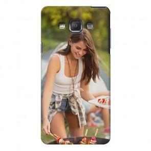 Samsung Galaxy A7 - Hardcase hoesje ontwerpen - Zwart