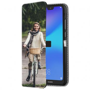 Huawei P20 Lite - Portemonnee Hoesje Maken (Voorzijde Bedrukt)