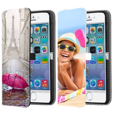 iPhone 5, 5S & SE - Custom Wallet Case (Front Printed)