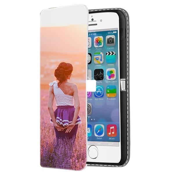 half off c67d4 5b90d iPhone 5, 5S & SE - Custom Wallet Case (Front Printed)