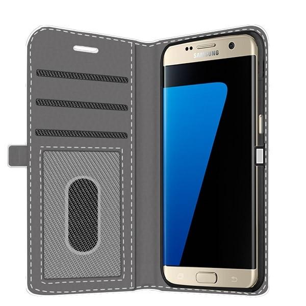 designer fashion 7b7be 62227 Samsung Galaxy S7 Edge - Custom Wallet Case (Full Printed)