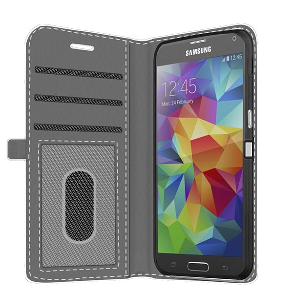 big sale e86d5 421d9 Samsung Galaxy S5 - Custom Wallet Case (Front Printed)