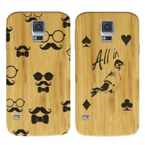 Samsung Galaxy S5 - Custom wooden case - Engraved